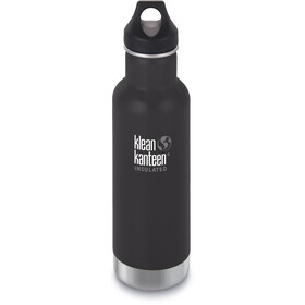Klean Kanteen Classic Vacuum Insulated Bottle Loop Cap 592ml Shale Black Matt